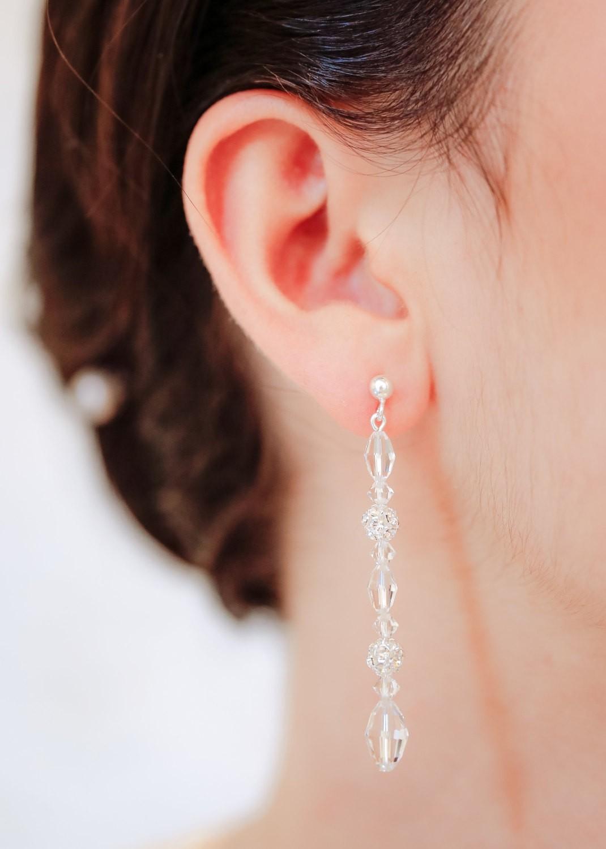Boucles d'oreilles de mariée Elisa
