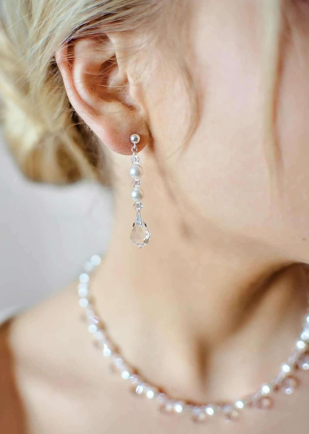 Bridal earrings Glamour perles