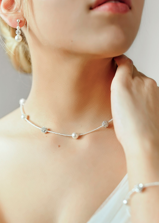 Bridal necklace Lucie