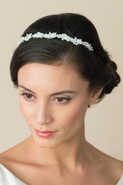 crystal vine bridal headband