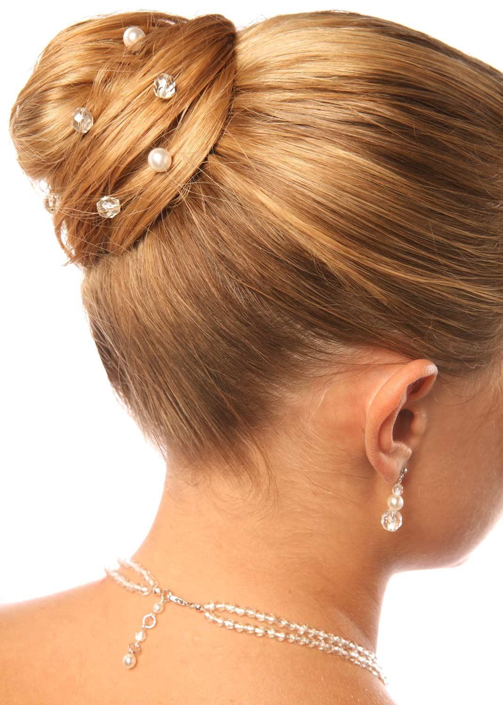 Bridal hair pins Cascade silver