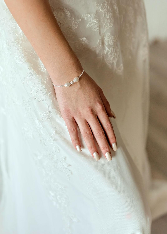 Anna ivory bridal bracelet