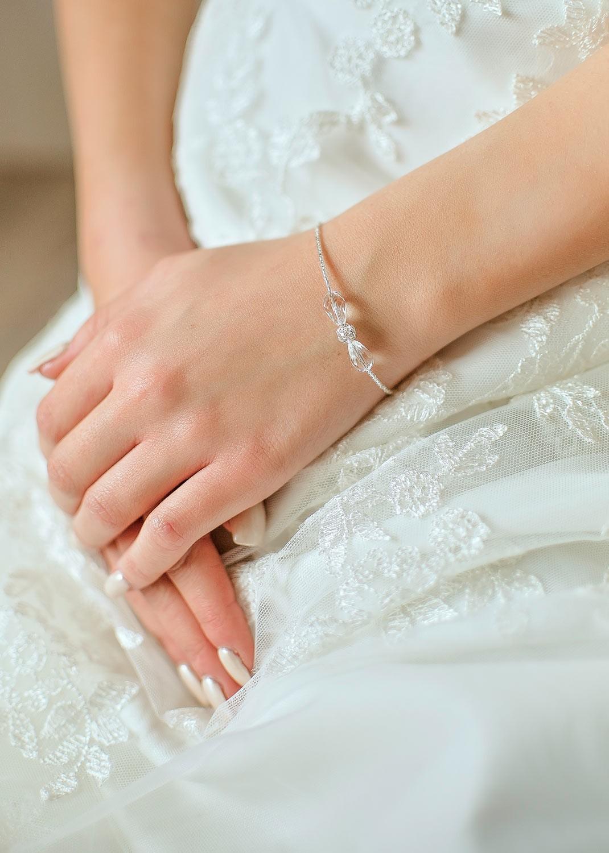Sparkle bridal bracelet