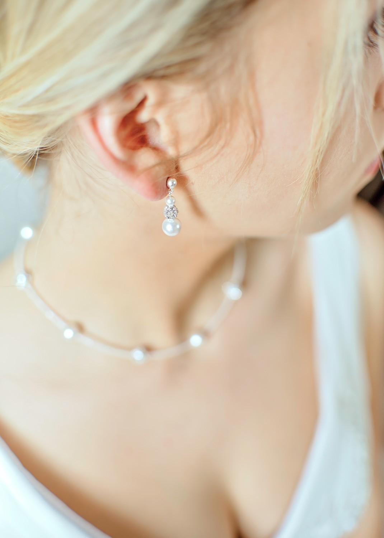 Bridal earrings Innocence