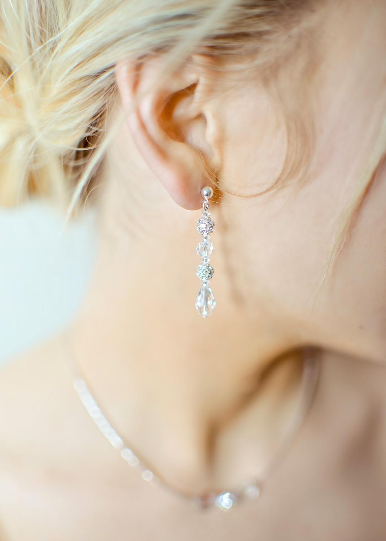 Sparkle bridal earrings (medium)