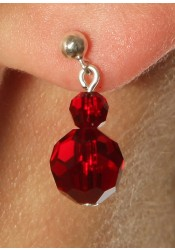 Wedding earrings Alice bordeaux