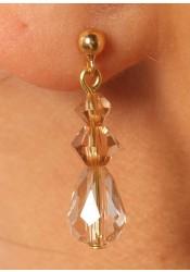 Wedding earrings Fleur d'été miel