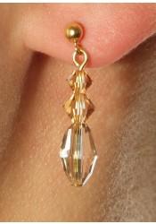Wedding earrings Lucie honey