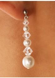 Wedding earrings Perles et cristal