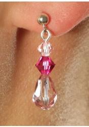 Wedding earrings Rosa framboise
