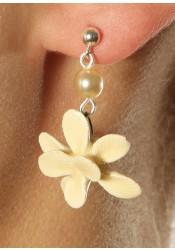 Bridal flower earrings Violette
