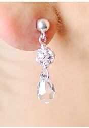 Boucles d'oreilles mariée cristal