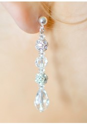 Sparkle wedding earrings (medium)