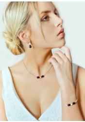 Anna black bridal necklace