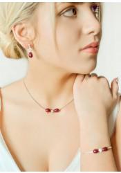 Anna blackberry bridal necklace