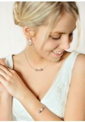 Anna lilac bridal necklace