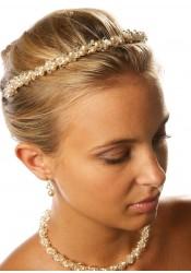 Bridal tiara Estella cream