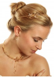 Bridal tiara Fleur d'été honey