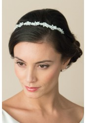 crystal vine wedding headband