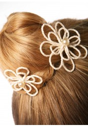 Camélia bridal hair pins