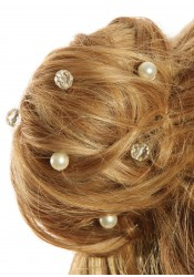 Wedding hair pins Cascade silver