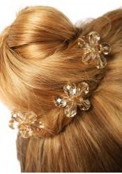Wedding hair pins Fleur d'été miel