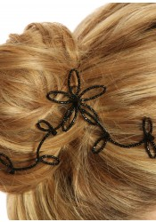 Bridal hair slide Eve black