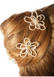 Bridal hair pins Flora