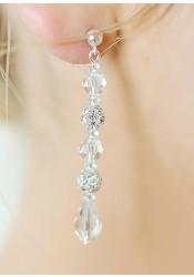 Sparkle wedding earrings (long)
