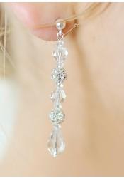 Sparkle wedding earrings (long)