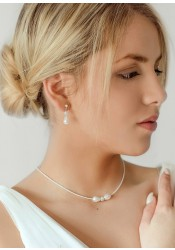 Anna ivory wedding necklace
