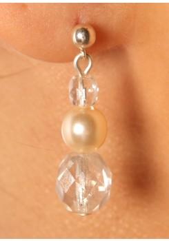 Wedding earrings Cascade cream