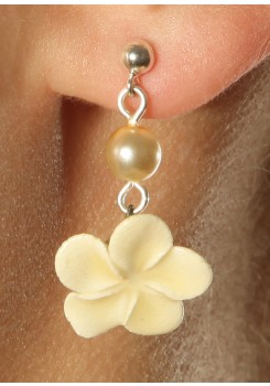 Wedding earrings Fleur de tiaré