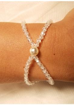 Bridal bracelet Cascade cream