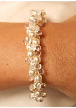 Bridal bracelet Estella cream