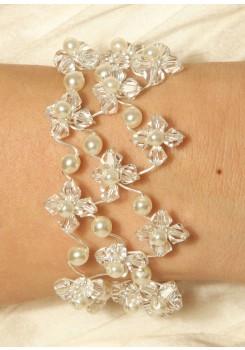 Bridal bracelet Starlight Perles