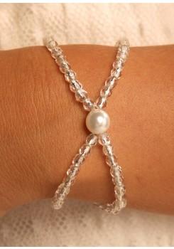 Bridal bracelet Cascade argent