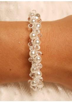 Bridal bracelet Estella ivory