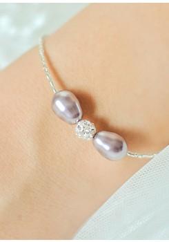 Anna lilac wedding bracelet