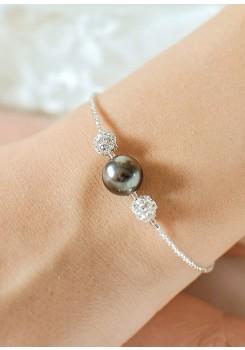 Charlotte black bridal bracelet