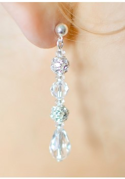 Sparkle wedding earrings (medium)
