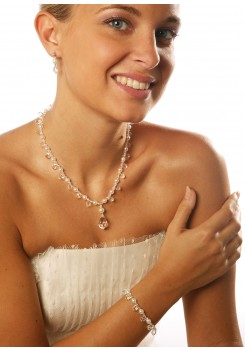 Bridal necklace Glamour perles