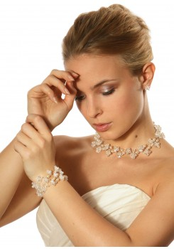 Bridal necklace Starlight Perles