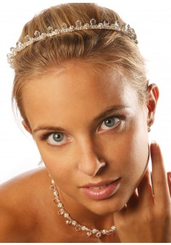 Bridal tiara Gouttes