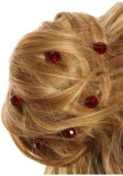 Bridal hair pins Alice burgundy