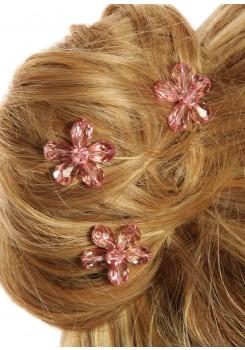 Bridal hair pins Fleur d'été pink