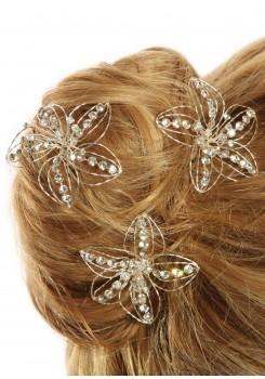 Bridal hair pins Hibiscus