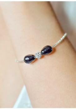 Anna black wedding necklace