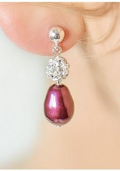Anna blackberry bridal earrings