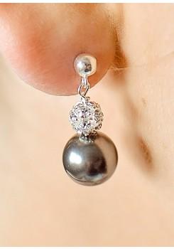 Charlotte black wedding earrings